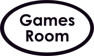 Games Room Oval Sign