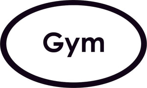 Gym Oval Sign