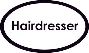 Hairdresser Oval Sign