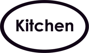 Kitchen Oval Sign
