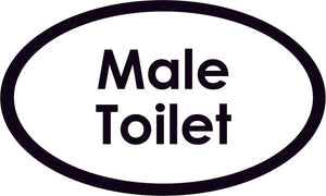 Male Toilet Oval Sign