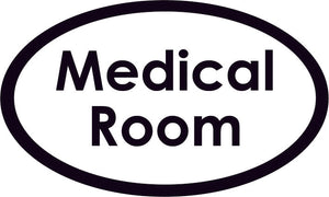 Medical Room Oval Sign