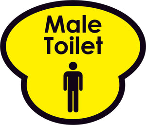 Male Toliet Picture Sign