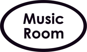 Music Room Oval Sign