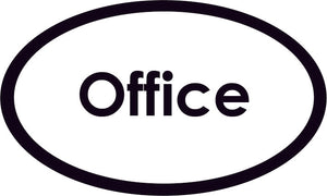 Office Oval Sign