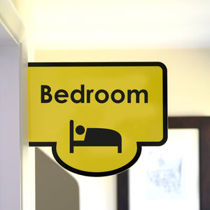 Bus Stop Style Protruding Bedroom Sign