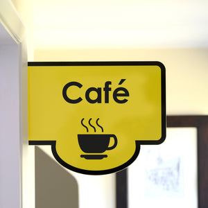 Bus Stop Style Protruding Café Sign
