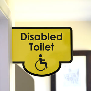 Bus Stop Style Protruding Disabled Toilet Sign