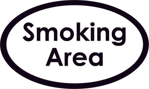 Smoking Area Oval Sign