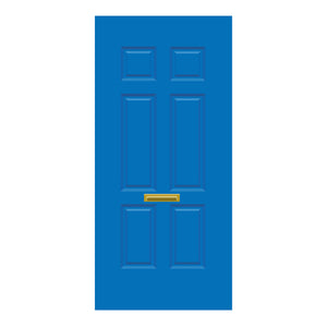 Solid Door Blue