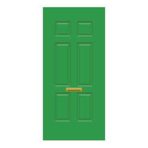 Solid Door Green