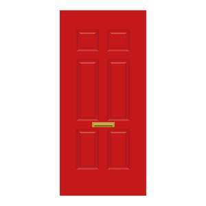 Solid Door Red