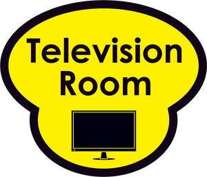 Television Room Picture Sign