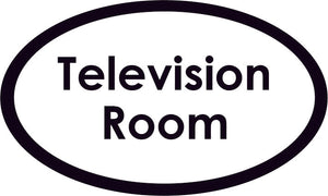 Television Room Oval Sign