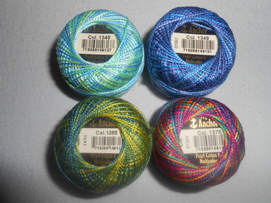 Anchor Perle 8 Cotton Ball - Multicoloured 1207 - 1355 - Tandem Cottage Needlework