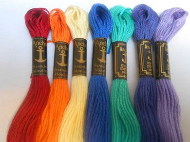 Anchor Six Stranded Cotton Threads Colour Numbers 1035 - 1098 - Tandem Cottage Needlework
