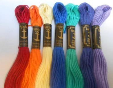Cross Stitch Threads - Anchor Six Stranded Cotton Threads Colour Number 200 - 298 - Tandem Cottage Needlework
