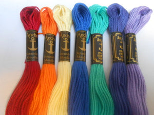 Anchor Six Stranded Cotton Threads Colour Number 300 - 390