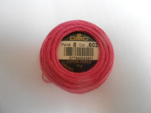 DMC Perle 8 Cotton Ball Colours 433 to 760 - Tandem Cottage Needlework
