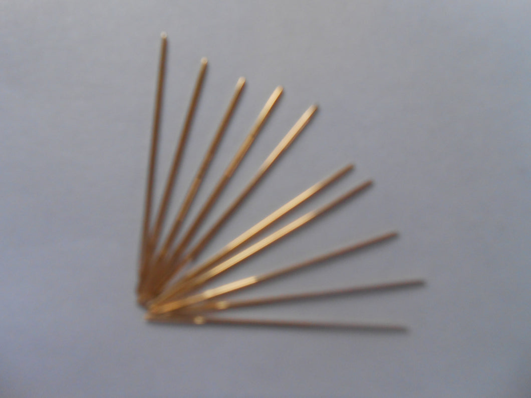 Gold Plated Needles Size 24 - Pack of 10