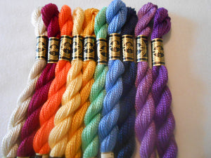 Pack of 10 DMC Perle 3 Cotton Skeins Colours may Vary