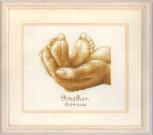 "Vervaco Counted Cross Stitch Kit ""Tiny Feet"" - Tandem Cottage Needlework"