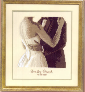 "Wedding Counted Cross Stitch Kit - Vervaco Counted Cross Stitch Kit ""To have and to hold"" - Tandem Cottage Needlework"