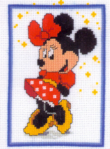 "Disney Counted Cross Stitch Kit ""Minnie Mouse"" by Vervaco - Tandem Cottage Needlework"