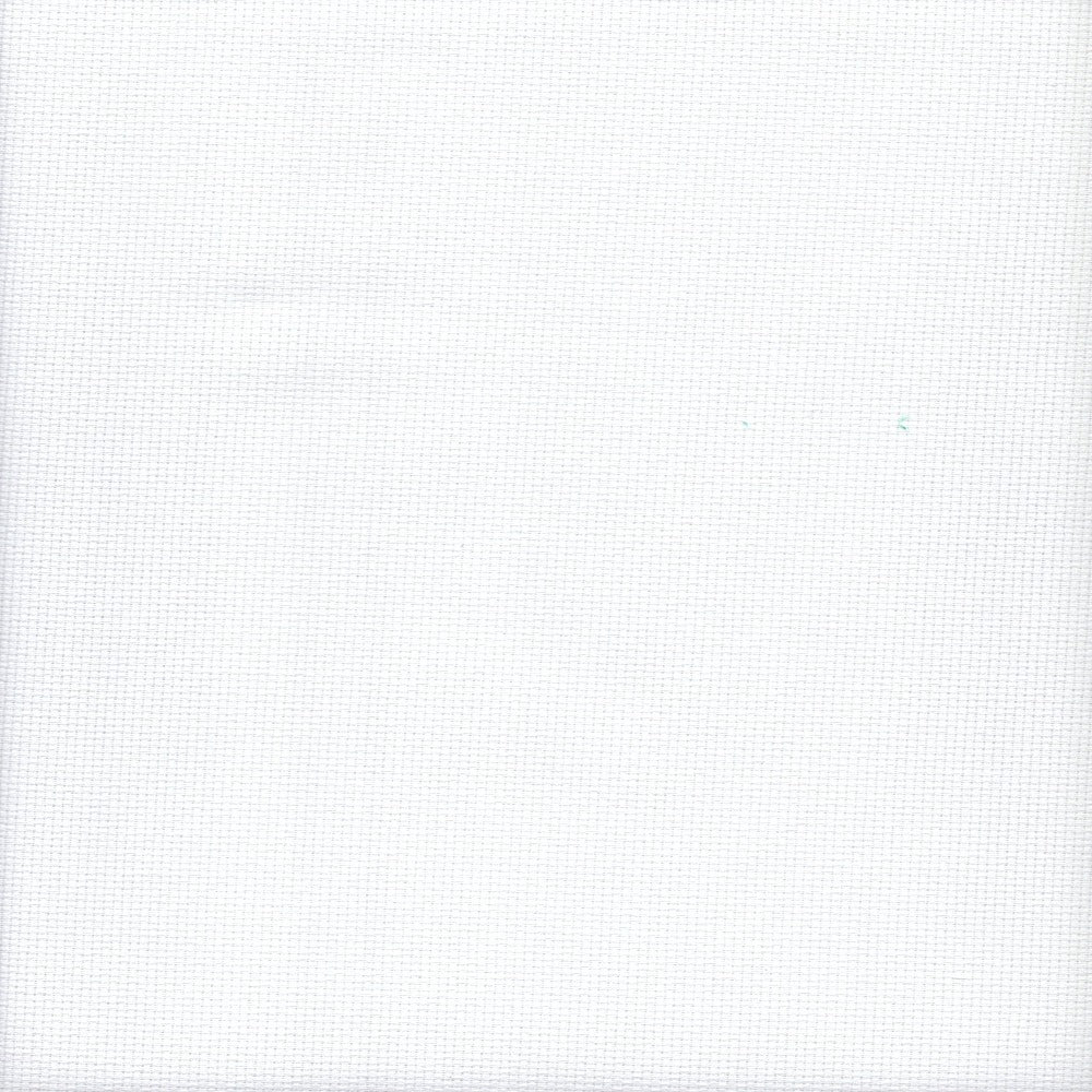 14 count Zweigart Aida Fabric White size 49 x 54 cms