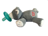 WubbaNub Infant Pacifier Limited Edition Boston Red Sox™ Grey Bear