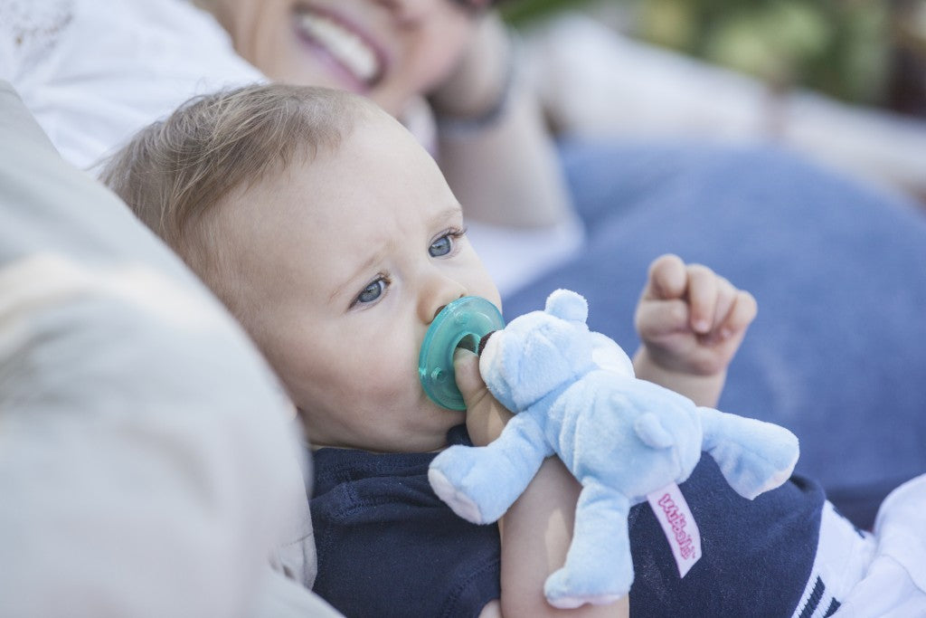 WubbaNub Baby Blue Bear lifestyle photo