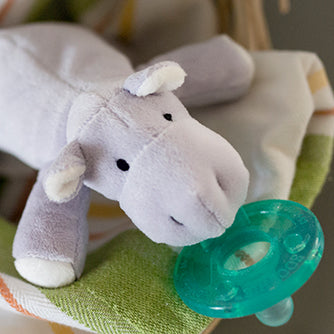 Lavender WubbaNub Hippopotamus searched on wubbanub.com  pacifier holder  Mam  Nookums  Mary Meyers  Philips Avent Soothie Snuggle  Baby registry search  Lovey  Blankie  Walmart  Target  Buy Buy Baby