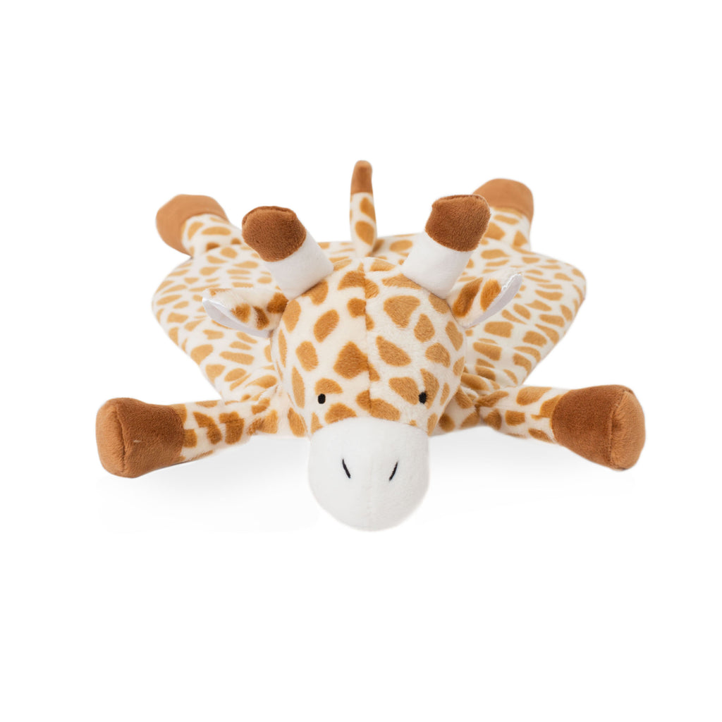Spotted tan and white giraffe lovey blankie