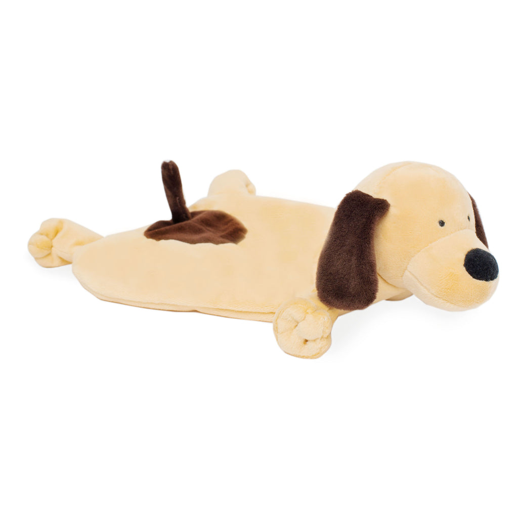 soft tan with brown accents brown puppy lovey blankie
