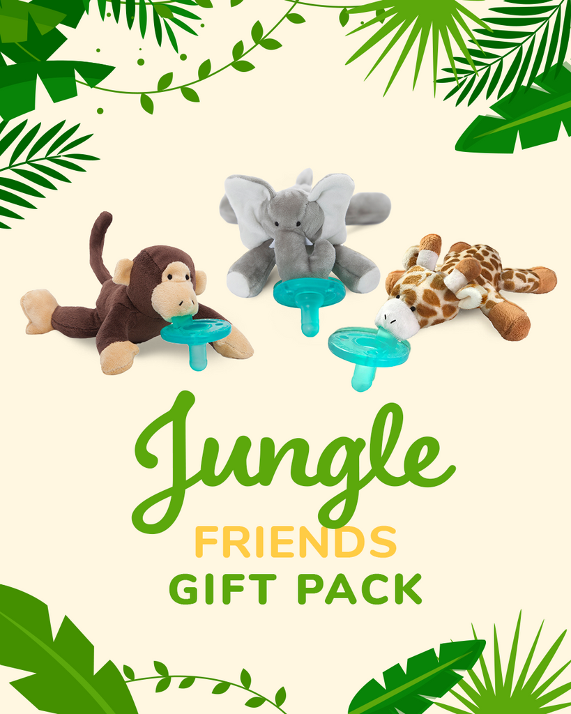 Jungle Friends Gift Pack photo with monkey elephant and giraffe