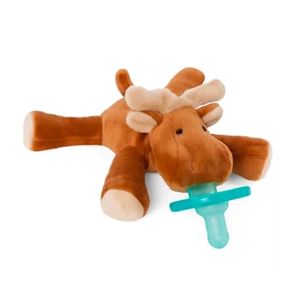 WubbaNub Brown Moose has tan accents on pads, ears and antlers