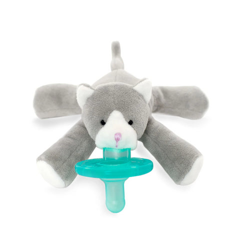 WubbaNub Infant Pacifier - Grey Kitten