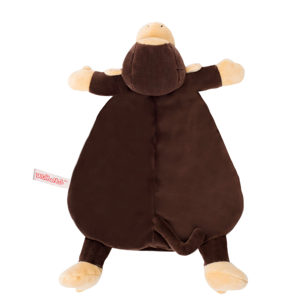Brown Monkey Lovey Blankie with tank accents