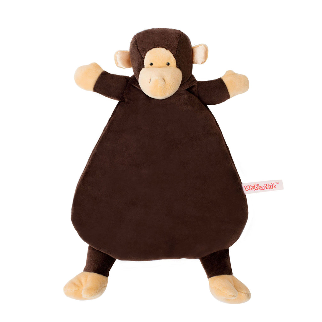 Brown Monkey Lovey Blankie with tan accents