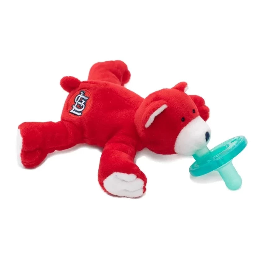 WubbaNub St. Louis Cardinals is a soft red fabric with white accents on the paws, face and ears and an SL emblem on the rear