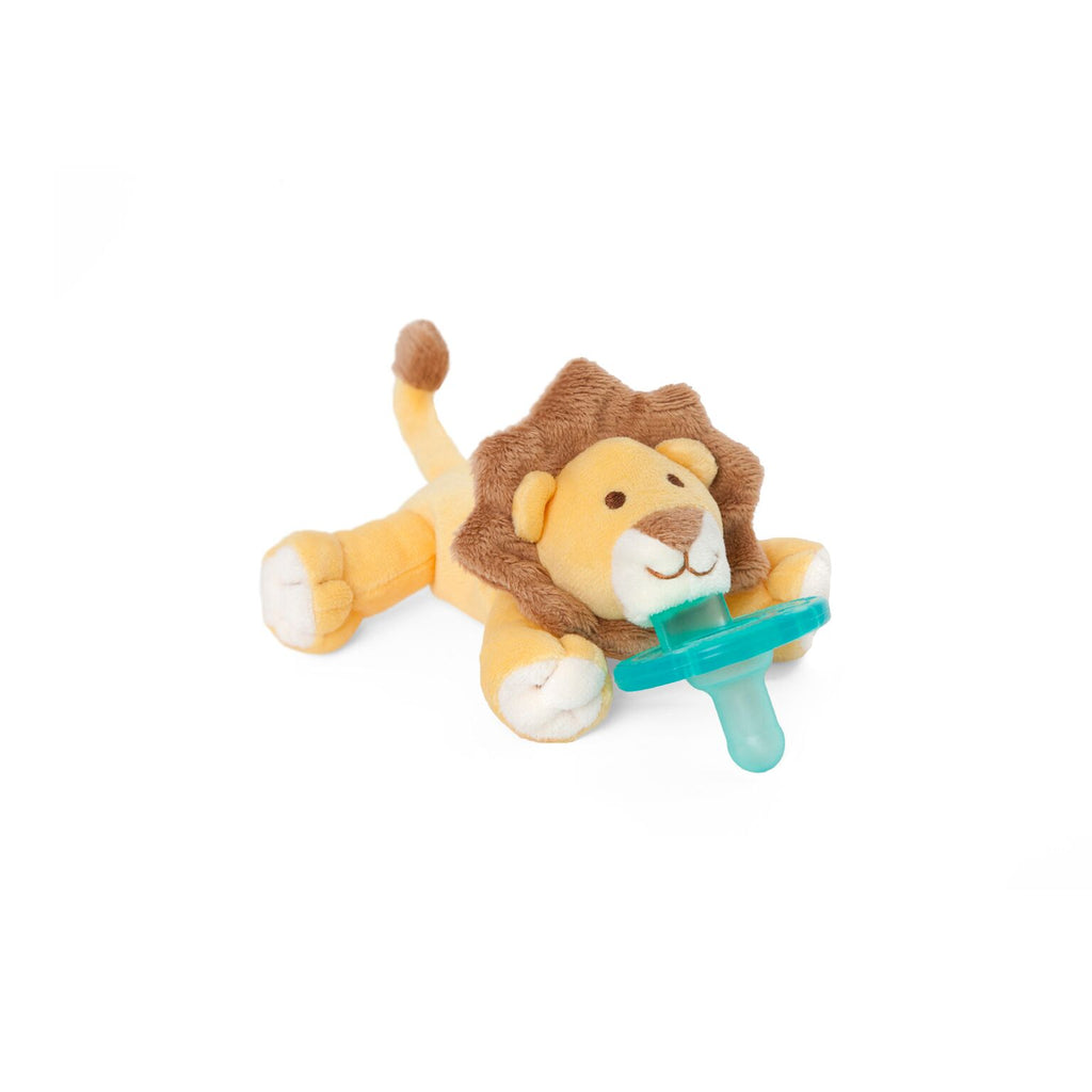 WubbaNub Baby Lion is soft yellow and tan with white accents