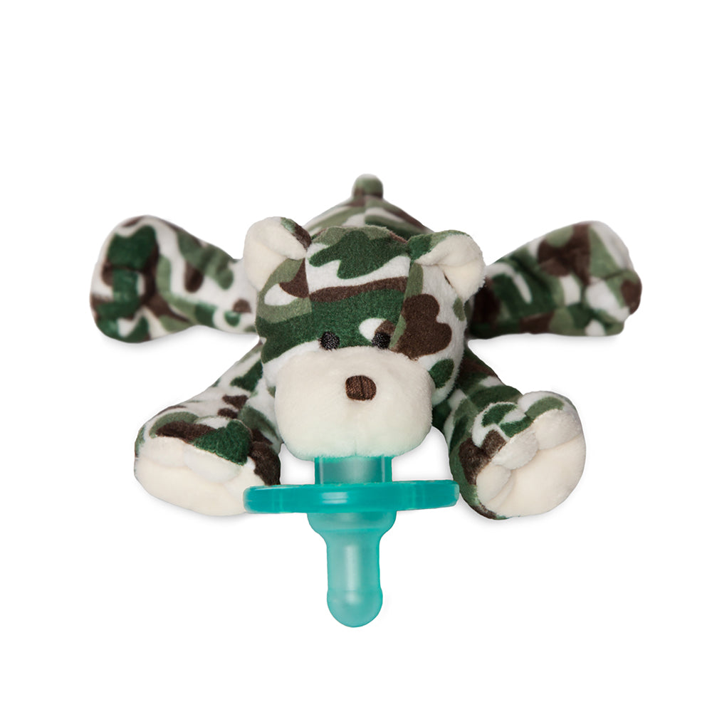 WubbaNub patriotic green camo plush pacifier
