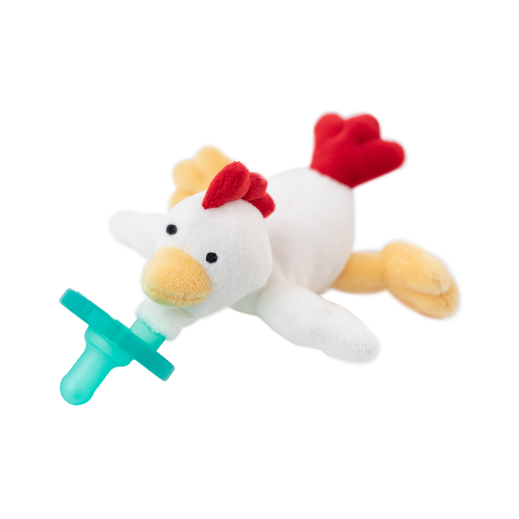 White yellow and red doodle doo rooster wubbanub
