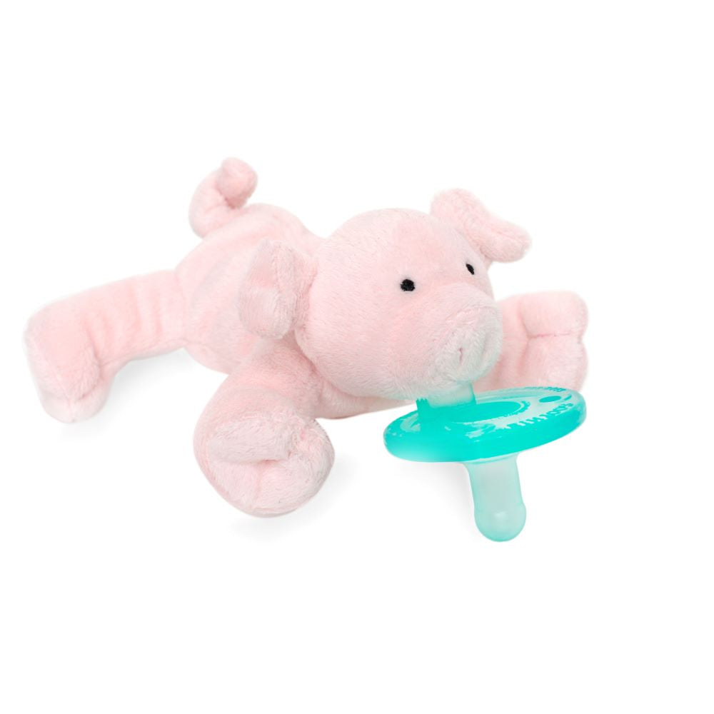 pink piglet WubbaNub with flap ears and squiggly tail