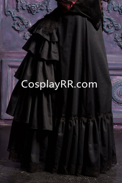Victorian Bustle Skirt Female Edwardian Steampunk Petticoat