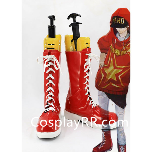Persona 5 P5 Goro Akechi Crow Shoes Custome Cosplay Boots