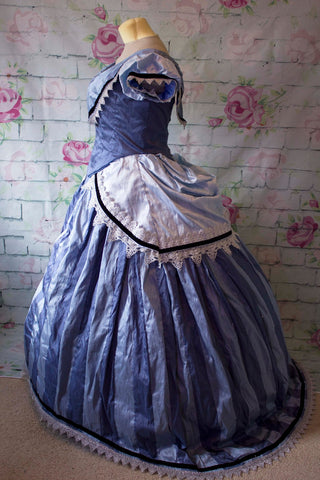 1860's Cinderella Dress Cosplay Costume with petticoat
