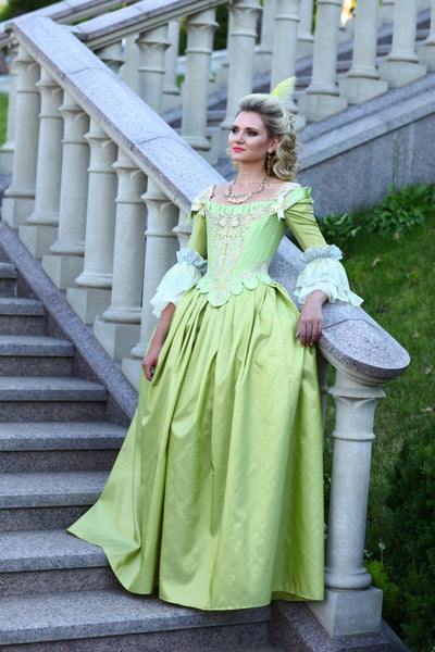 18th Century Marie Antoinette Dress Gown Cosplay Costume