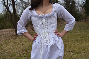18th Century Stay Historical Corset White Costume