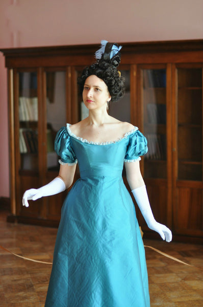 19th Century Biedermeier Costume Ballroom Dress Reenactment Costume